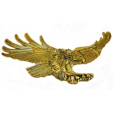 Screaming Eagle emblem, Antique gold-Right 7-inch